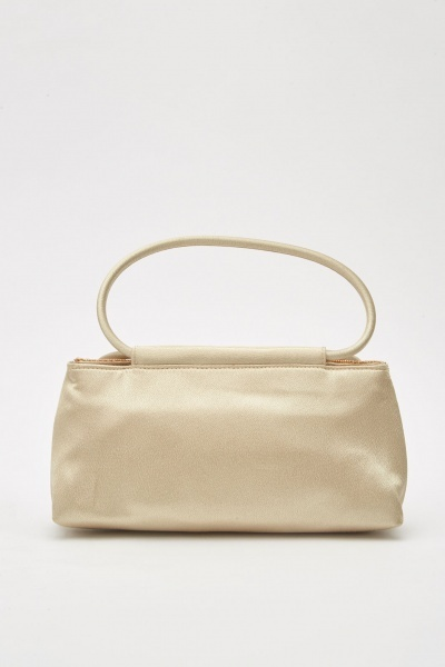 Bead Embellished Sateen Bag