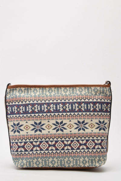 Woven Tapestry Tote Bag
