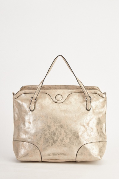 Metallic Textured Handbag