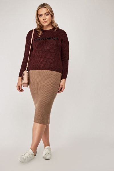 Knitted Midi Tube Skirt