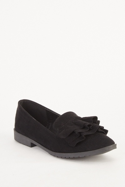 Ruffle Layered Ballet Pumps
