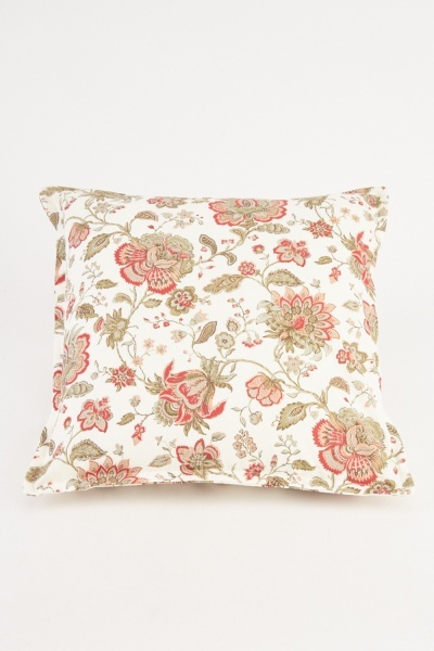 Floral Patterned Cushion Cover