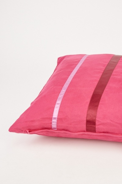 Velveteen Vertical Striped Cushion Cover