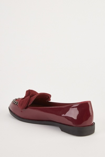 Bow Contrasted PVC Shoes