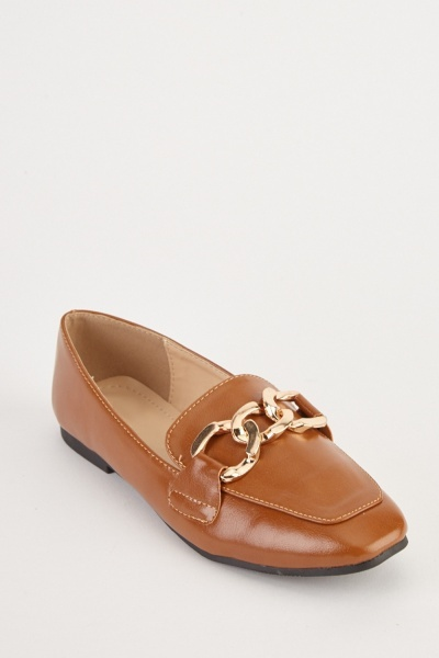Chain Front Loafers