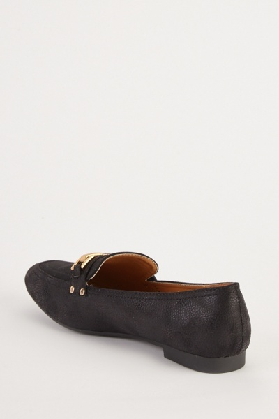 Front Detail Slip On Loafers