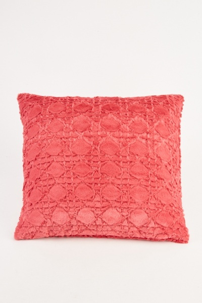All Over Patterned Magenta Cushion Cover