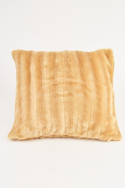 Camel Fluffy Cushion Cover