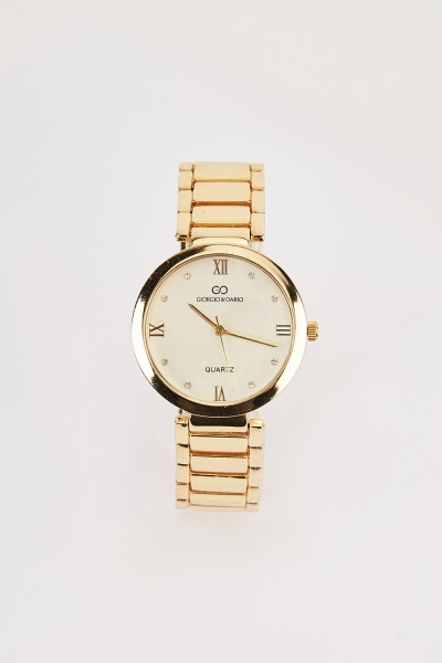 Round Face Chain Link Watch