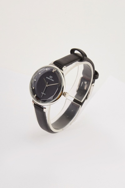 Dainty Faux Leather Strap Watch