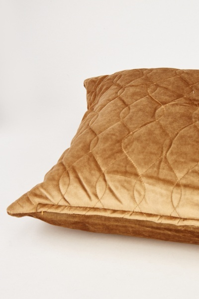 Quilted Velveteen Cushion Cover