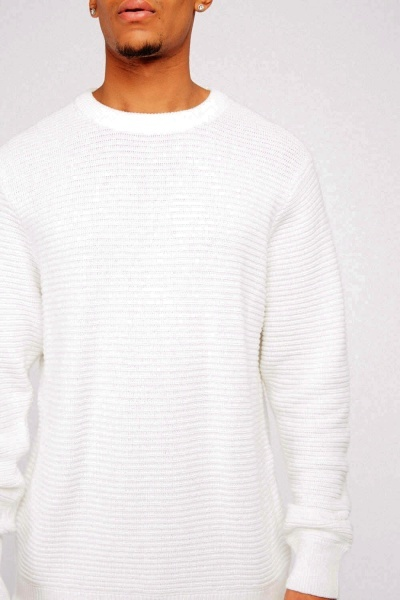 Textured Chunky Knitted Jumper
