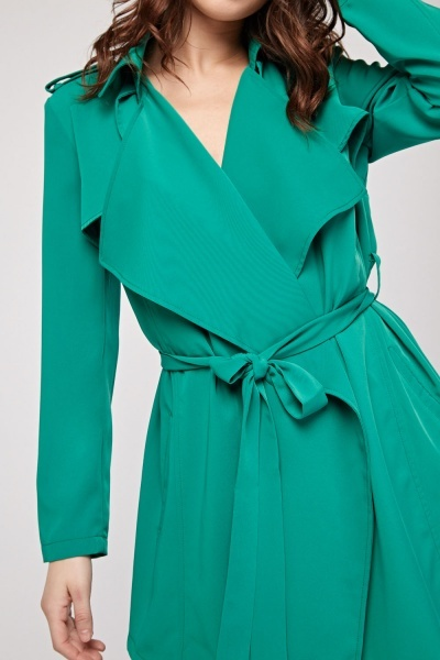 Belted Waterfall Trench Coat