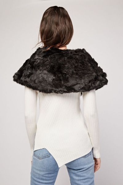 Buckle Collar Faux Fur Snood