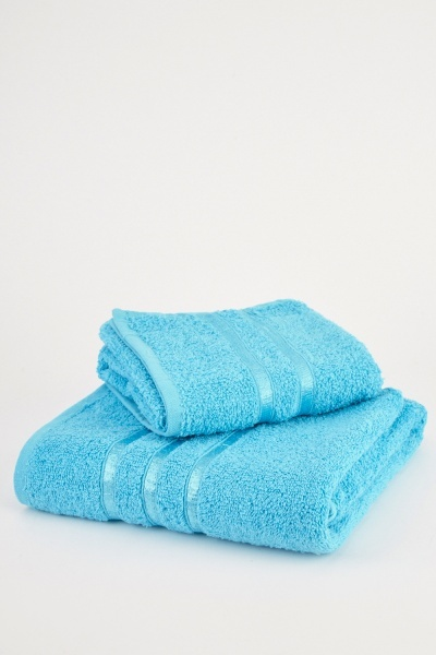 Set Of 2 Pure Luxury Cotton Towels