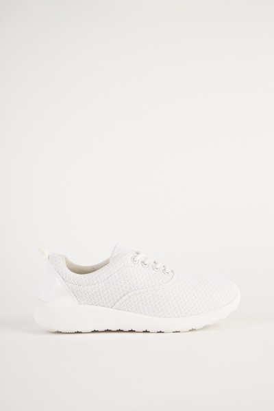 Perforated Diamond Patterned Trainers