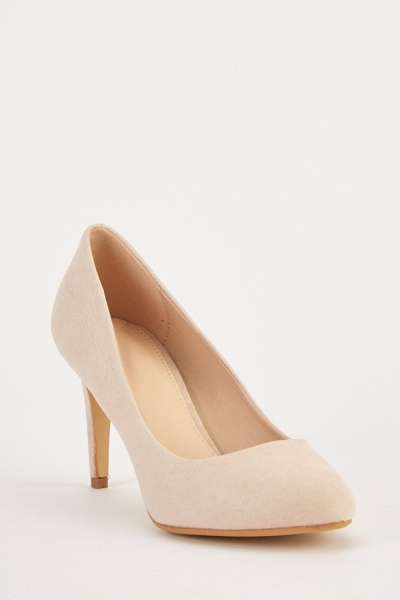 Suedette Heeled Pumps