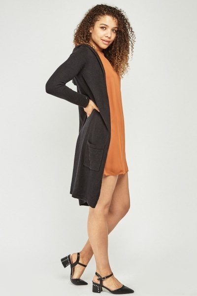 Long Line Hooded Cardigan