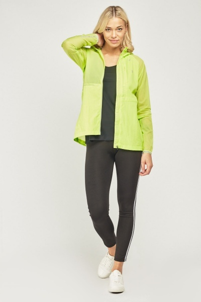 Neon Lime Hooded Sports Jacket