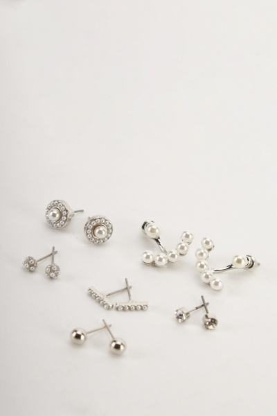 Pack Of 6 Multi Earrings Set