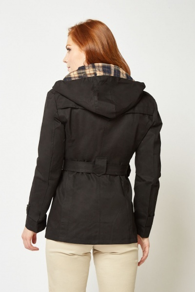 Belted Casual Hooded Parka