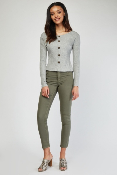 Low Waist Skinny Fit Trousers