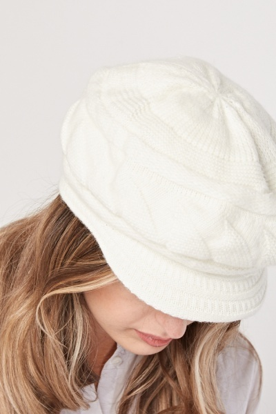 Chunky Knitted Lined Cap