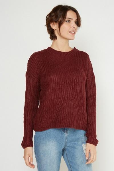 Herringbone Knit Jumper 8 Colours Just 163 5