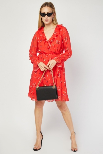 Zibi London Ruffle Tunic Dress