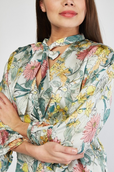 Floral Sateen Blouse