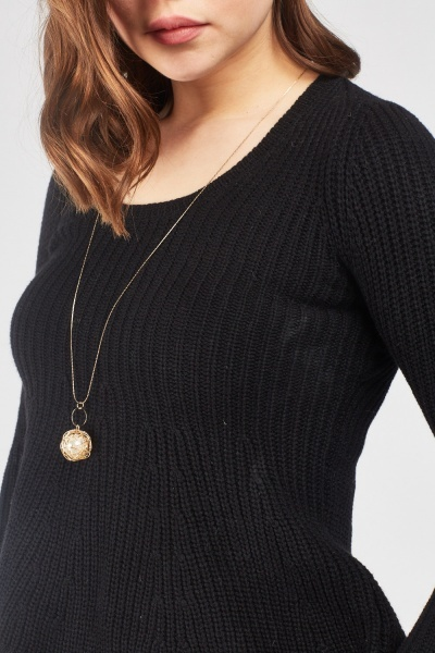 Scallop Hem Knit Jumper