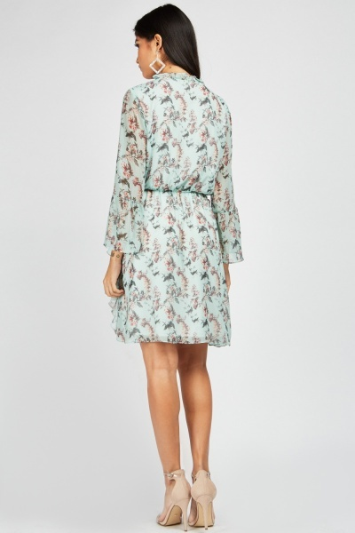 Zibi London Tie Up Front Floral Dress
