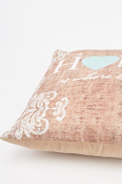 Scattered Logo Printed Cushion