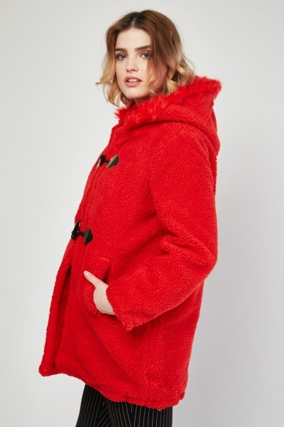 Teddy Fur Duffle Coat