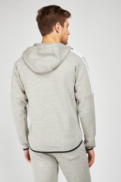 Graphic Printed Side Hoodie