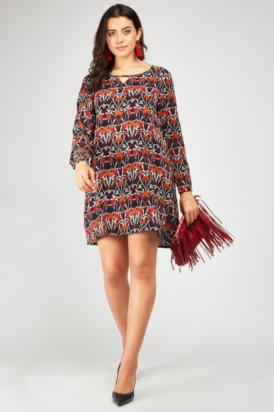 b707e73a71 Renaissance Print Shift Dress - Navy Multi - Just £5