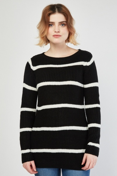 Striped Herringbone Knit Jumper