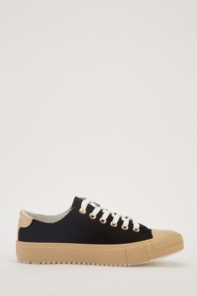 Chunky Sole Contrast Low Top Trainers