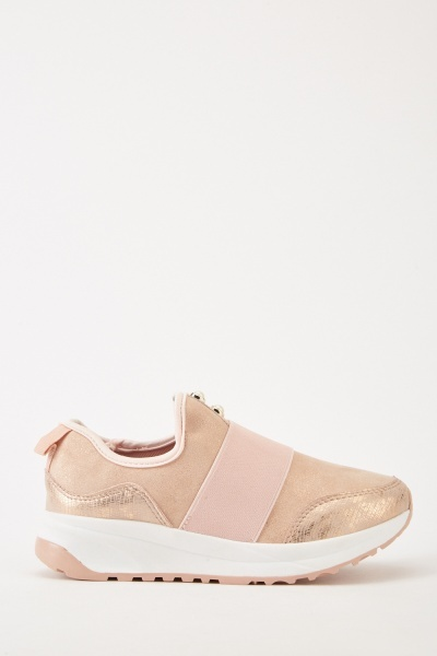 Elasticated Low Top Trainers