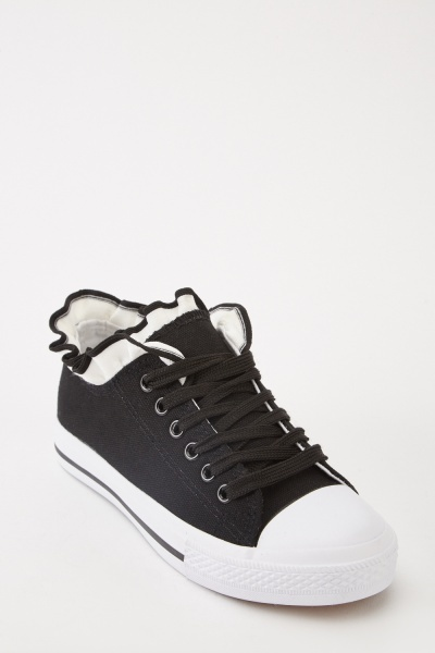Frill Top Low Top Trainers
