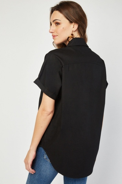 Button Front Oversize Shirt