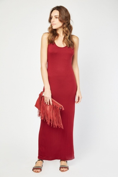 Scoop Neck Maxi Dress
