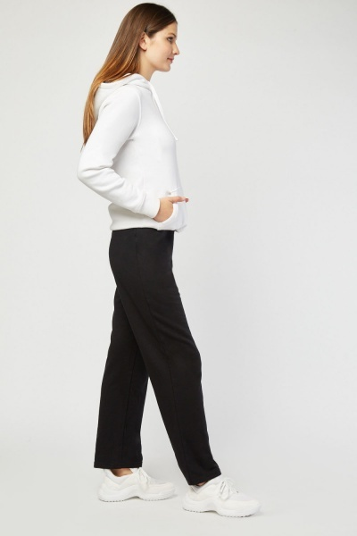 Black Flared Jogger Pants