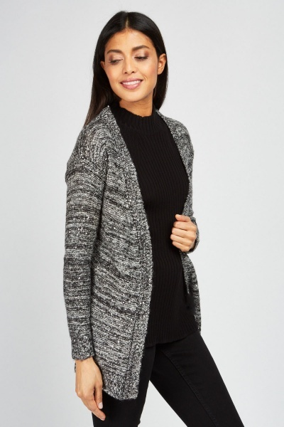 Sequin Speckled Knit Cardigan