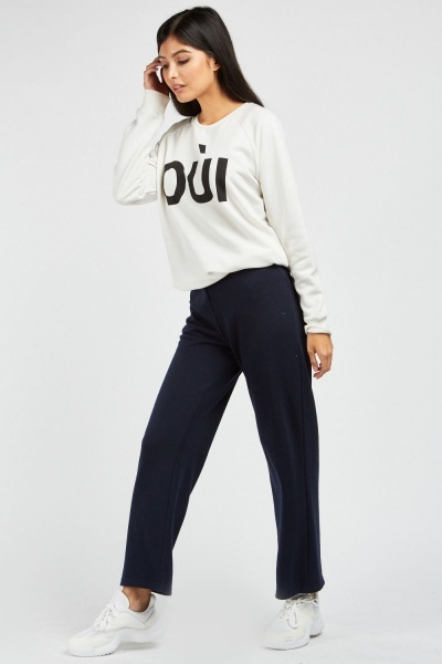 Straight Fit Jersey Trousers