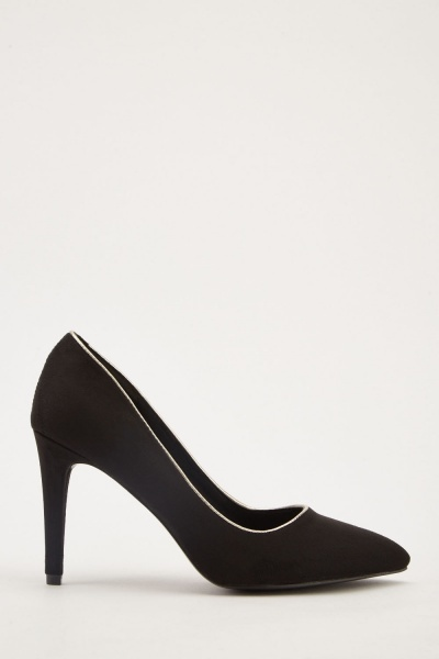 Faux Suede Court Heels