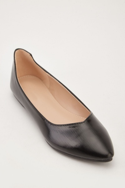 Hi-Shine Pointy Flats
