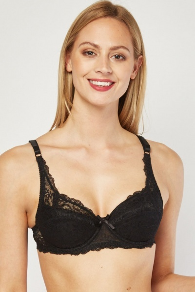 b3d971181c 2 Pack Underwire Padded Bra Set - White Red or Red Black - Just £5