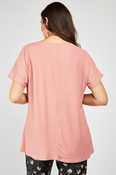 Batwing Sleeve Rib Top