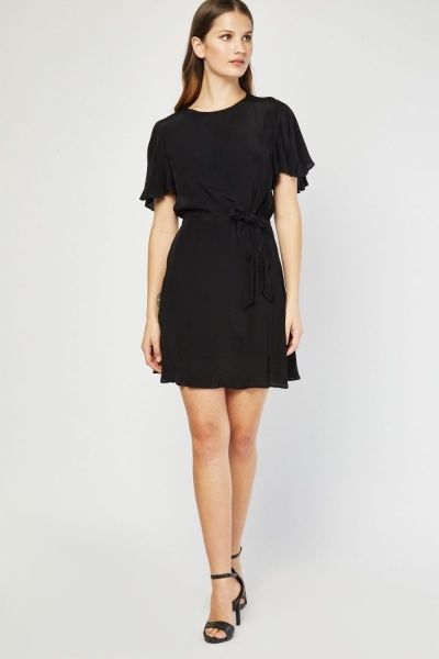 Flared Sleeve Tea Dress